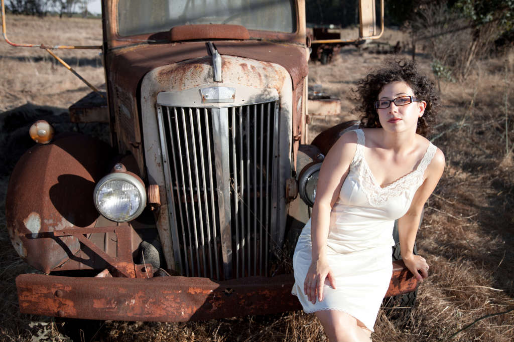 Emily Zisman in front of a truck